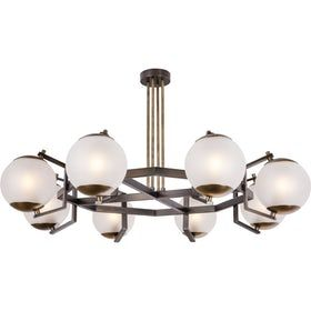Jonathan Browning Limantour Circular Chandelier  Contemporary, Glass, Metal, Chandelier by Mc Guire Furniture