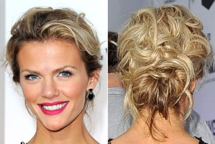 Elegance Updo Hair of Brooklyn Decker as Best Date Night Hairstyles