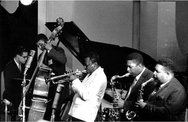 Bill Evans, Paul Chambers, Miles Davis, John Coltrane and Cannonball Adderley, 1958