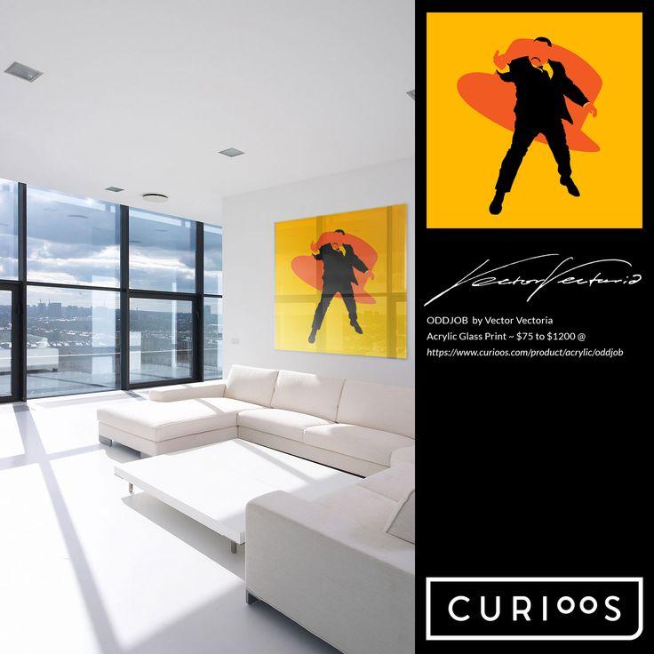 ODDJOB Acrylic Glass Print by Vector Vectoria @ https://www.curioos.com/product/acrylic/oddjob