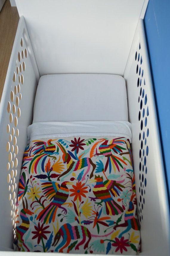Organic Baby blanket / Multicolored Table Runner / Otomi blanket / Mexican table runner / Ready to be shipped