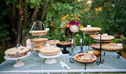september country wedding ideas   Tips for Creating an Inviting Wedding Pie Dessert Buffet   Backyard ...