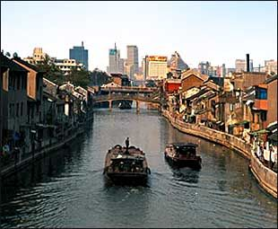 The Grand Canal of China is the longest canal or river in the world. It's length is at a astounding 1,104 miles long or 1,776 km, this canal had a few use's, but was mostly used for transportation throughout China.