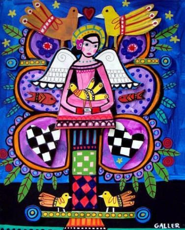 Mexican Folk Art - Frida Tree of Life Art Poster Print of painting by Heather Galler of Painting (HG642)