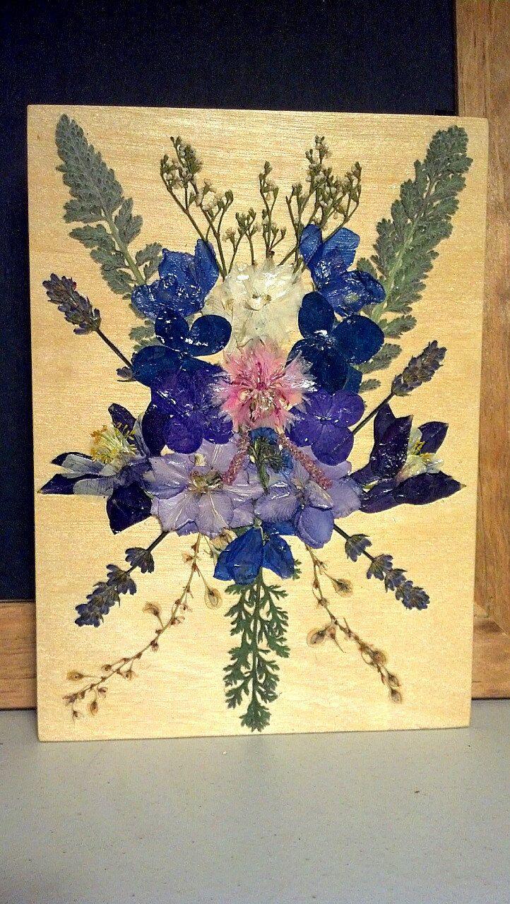 Открытки из засушенных цветов своими руками, формата своими руками