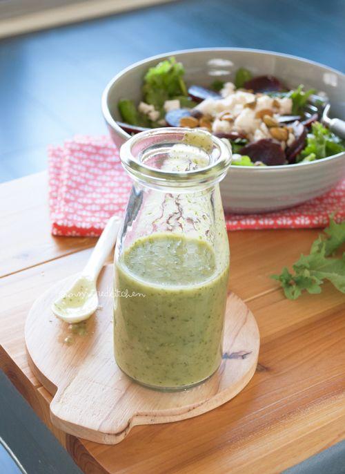 Green avocado salad dressing | in my Red Kitchen #dairyfree #glutenfree #paleo #avocado