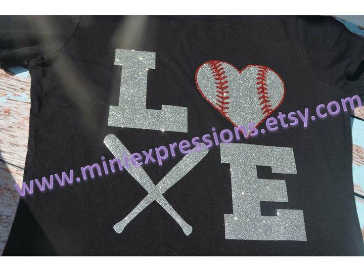 Baseball or softball LOVE shirt by MiniExpressions on Etsy, $18.95