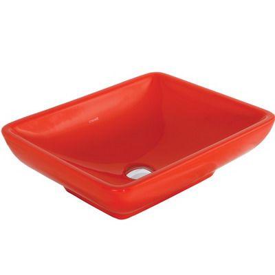 Creavit Tp140r Κόκκινος επιτραπέζιος νιπτήρας μπάνιου 50*40