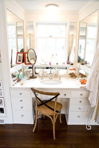 Now THAT is a makeup table. Photos by Heather Talbert