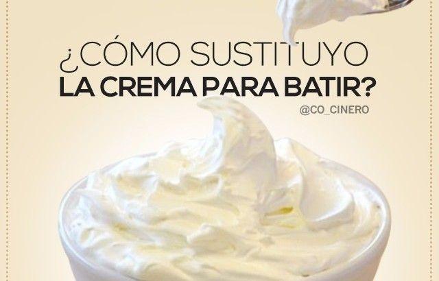 ¿Cómo sustituyo la Crema para Batir? – @cesarcocinero