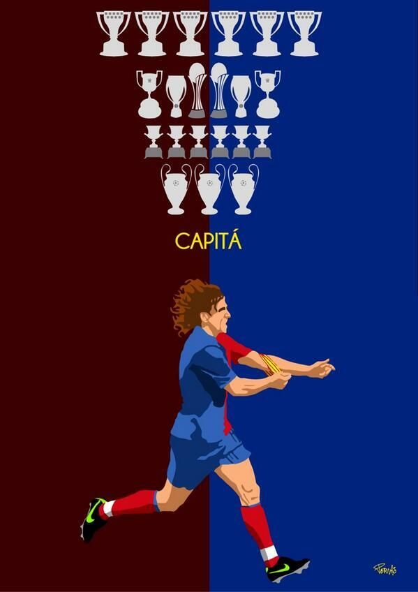 Carles Puyol. We're gonna miss you! Legend!