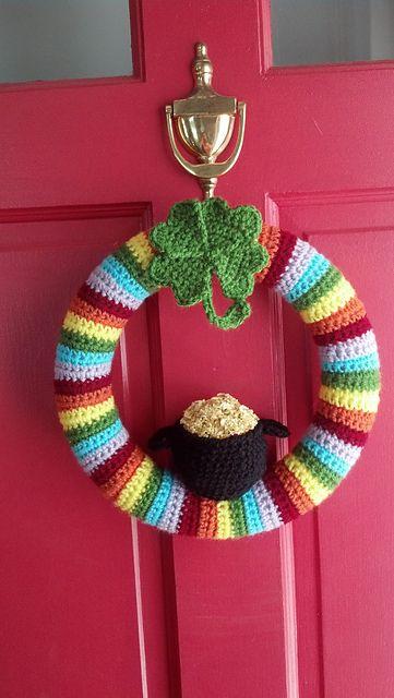 St. Patrick's Day crochet wreath #crochet