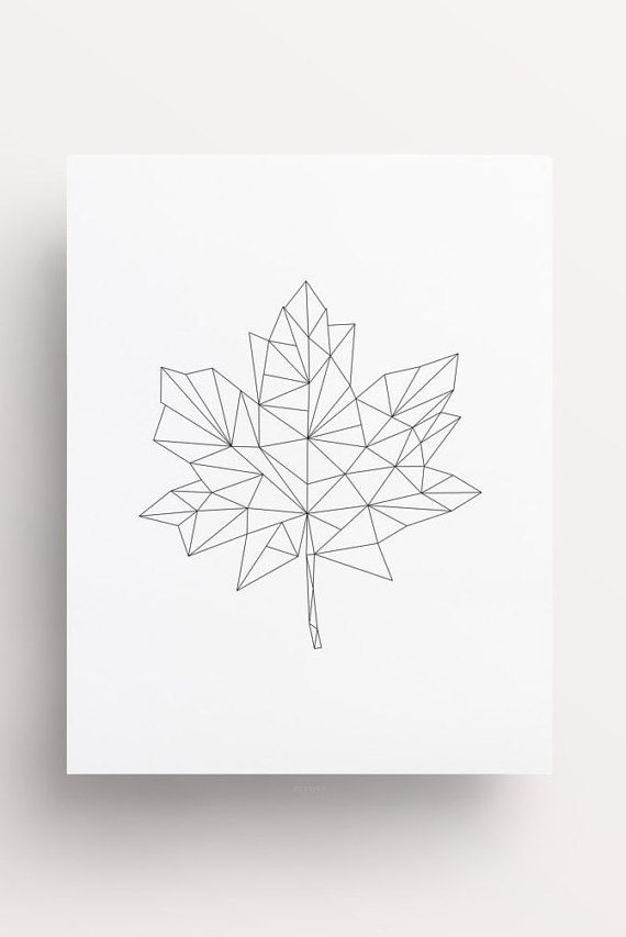 Maple Leaf Maple Leaf Print Leaf Print by FleurtCollective on Etsy