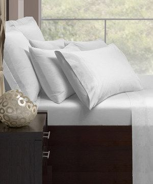 White Cotton Rich 1000-Thread Count Sheet Set by GMG Wholesale #zulily #zulilyfinds