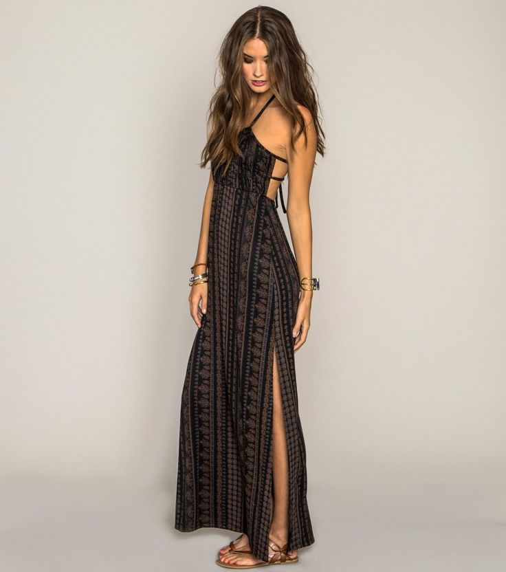 O neill kaya maxi dress double slit