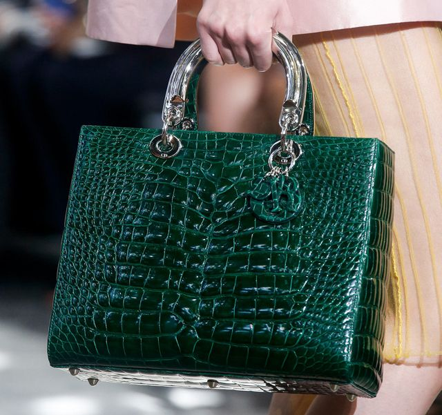christian-dior-spring-2014-handbag - a spring summer bag-- or some would carry whenever--  Green