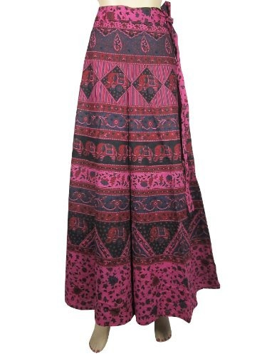 Elegant Cotton Long Wrap Skirt Mod Retro Pink Black Animal Floral Print Wrap Around Skirts Mogul Interior, http://www.amazon.com/gp/product/B009RK088I/ref=cm_sw_r_pi_alp_hwyFqb1QJV769