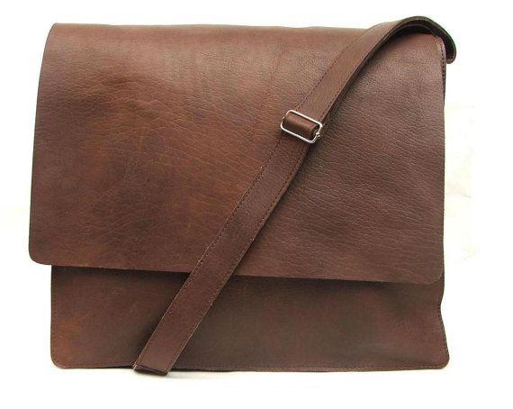 Messenger bag for Mens Women Unisex Brown Leather Satchel leather handbag leather  laptop bag Leather bag hand made