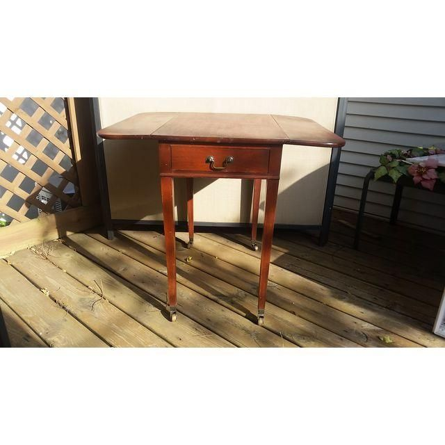 Image Of Vintage Cherry Willett Table With Fold Down Sides