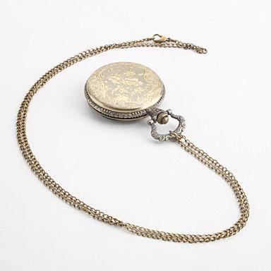 EUR € 4.72 - kvinders klassiske legering analog quartz lommeur (bronze), Gratis Fragt På Alle Gadgets!