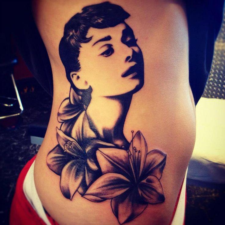 Audrey Hepburn by Mark Skipper, TRX Tattoos in St. Louis, MO