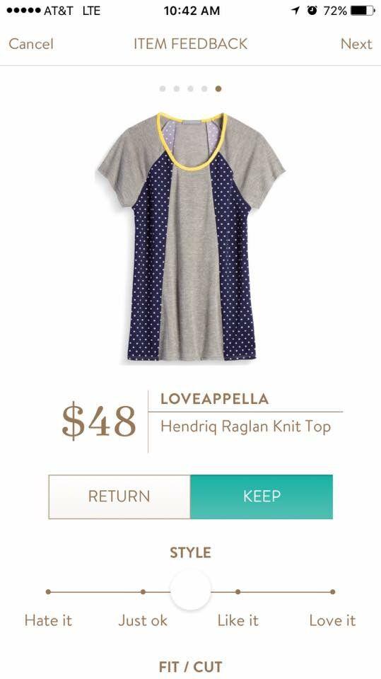 Super cute!! Loveappella Hendriq Raglan. Want to try Stitch Fix? Sign up here.... https://www.stitchfix.com/referral/5198264
