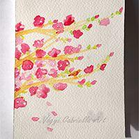 Virágzó cseresznyefaág jegyzettömb  #akvarell #festészet #füzet #design