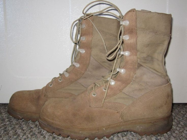 MENS ALTAMA U.S. ARMY MILITARY DESERT STORM TAN LEATHER COMBAT BOOTS SIZE 8.5 W #ALTAMA #Military