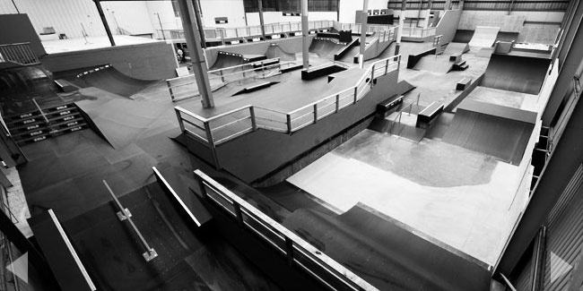 The Shed Skatepark - Indoor skate park. Street, bowl, vert, ramps, resi, foam pit.  Keeping the youth entertained!