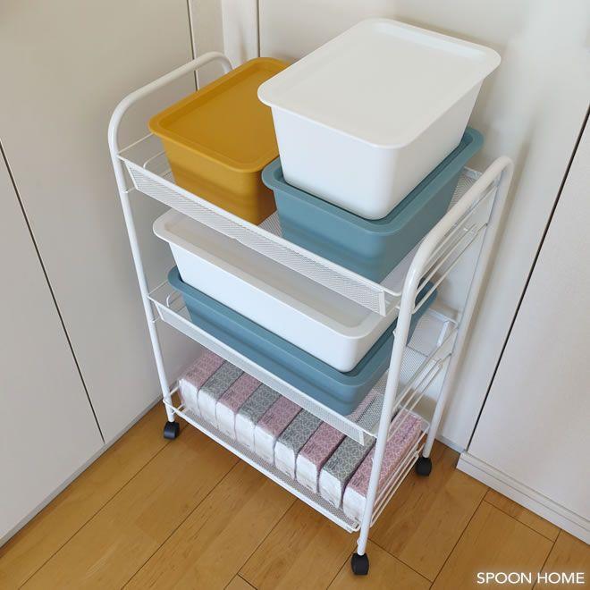 Ikeaのhornavanワゴンが便利 洗面所やキッチン デスク横の収納に