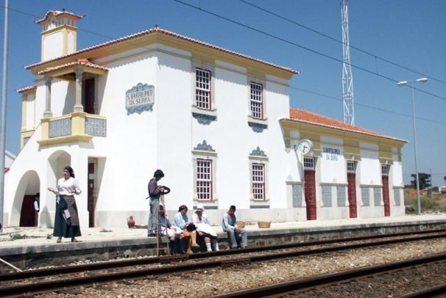 Estação Ferroviária de / Railway Station of São Bartolomeu da Serra   1932 #Azulejo