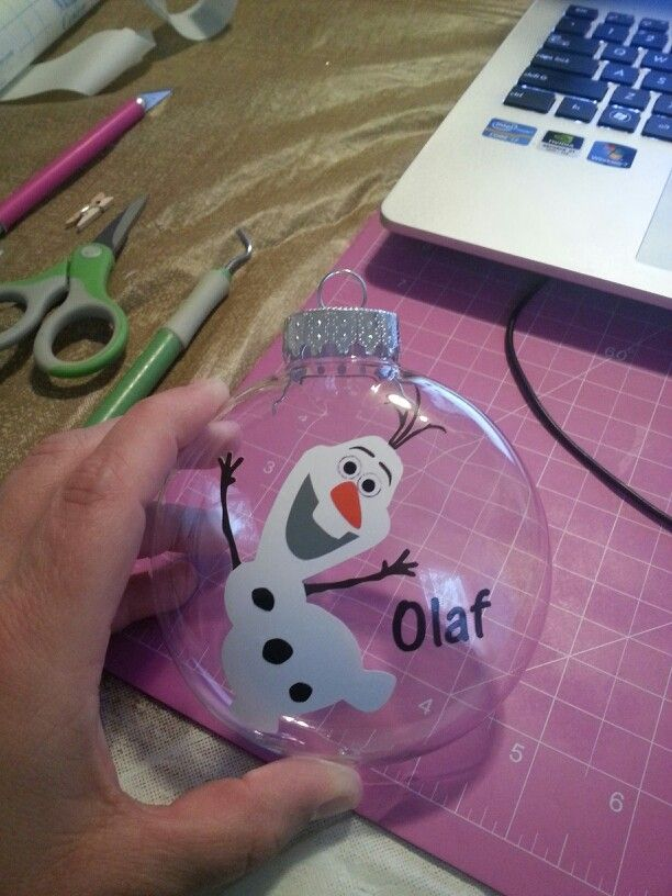 Olaf ornament. Disney's FROZEN I made this for my daughter who loved him in the movie :)