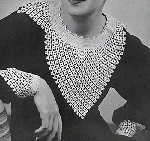377 best crochet vintage images on pinterest vintage knitting ravelry clover stitch collar and cuffs 2129 pattern by the spool cotton company crochet cowlsfree crochetcrochet patternsvintage dt1010fo