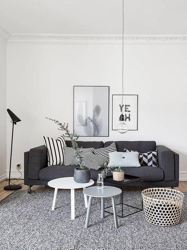 Une décoration dans le style scandinave : épuré, noir, gris, blanc, bois