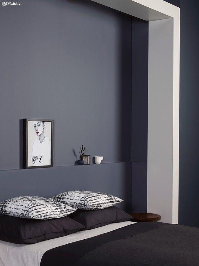 Vakre blå veggfarger