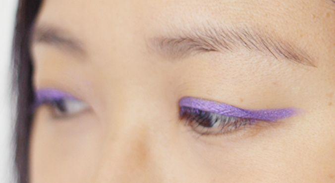 How To Wear Purple on your eyes: Carla GS wears Maybelline Color Tattoo 24hr Cream Gel Shadow in Painted Purple.