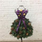 Love this? Buy it at Mannequin Madness!  DIY Tutorial -Super Easy Dress Form Christmas Tree on a Wire Form