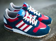 Sweet products by my sponsor! adidas Originals ZX 700 - Navy / Red - White #3stripelife @adidas .