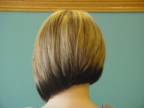 asymmetric bob black layer under blonde
