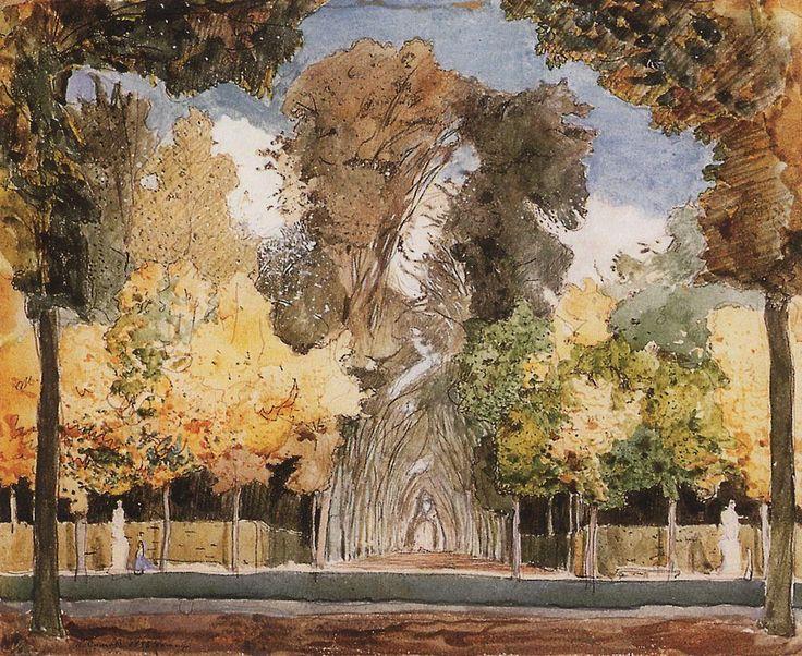 Версальский парк осенью. 1898 |