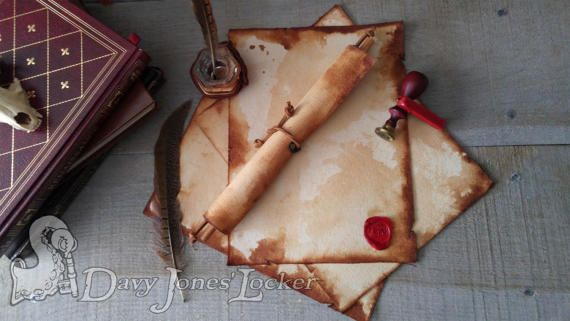 FREE SHIPPING - Parchment paper -  Archivist - Medieval