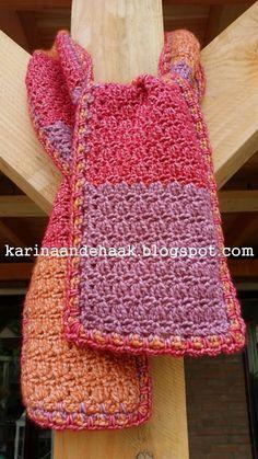 Voordat de herfst losbarst, heb ik alvast een lekkere sjaal gehaakt.   Een gewone rechttoe rechtaan sjaal.         ***                  ***...