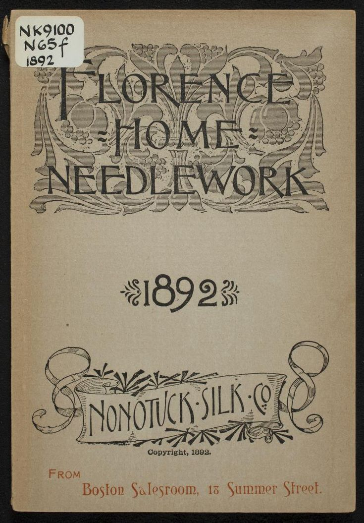 """Florence Home Needlework"" (1892) - Online Vintage Instruction Book"