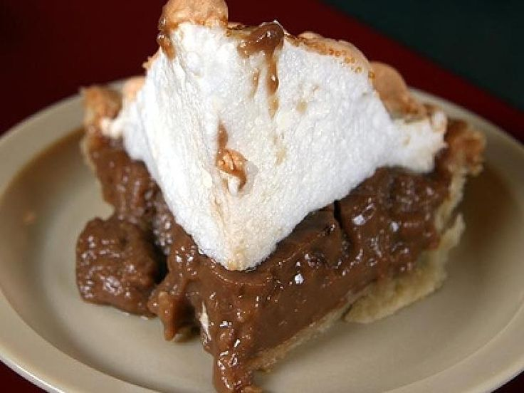 Chocolate Cream Meringue Pie Recipe from Divine Desserts