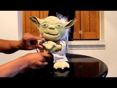 Review of Star Wars Talking Yoda Plush - YouTube