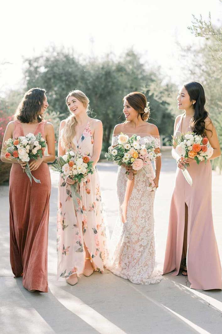 29 Gorgeous Wedding Colors For 2019 With Bridesmaid Dresses Floral Bridesmaid Dresses Summer Bridesmaid Dresses Spring Bridesmaid Dresses