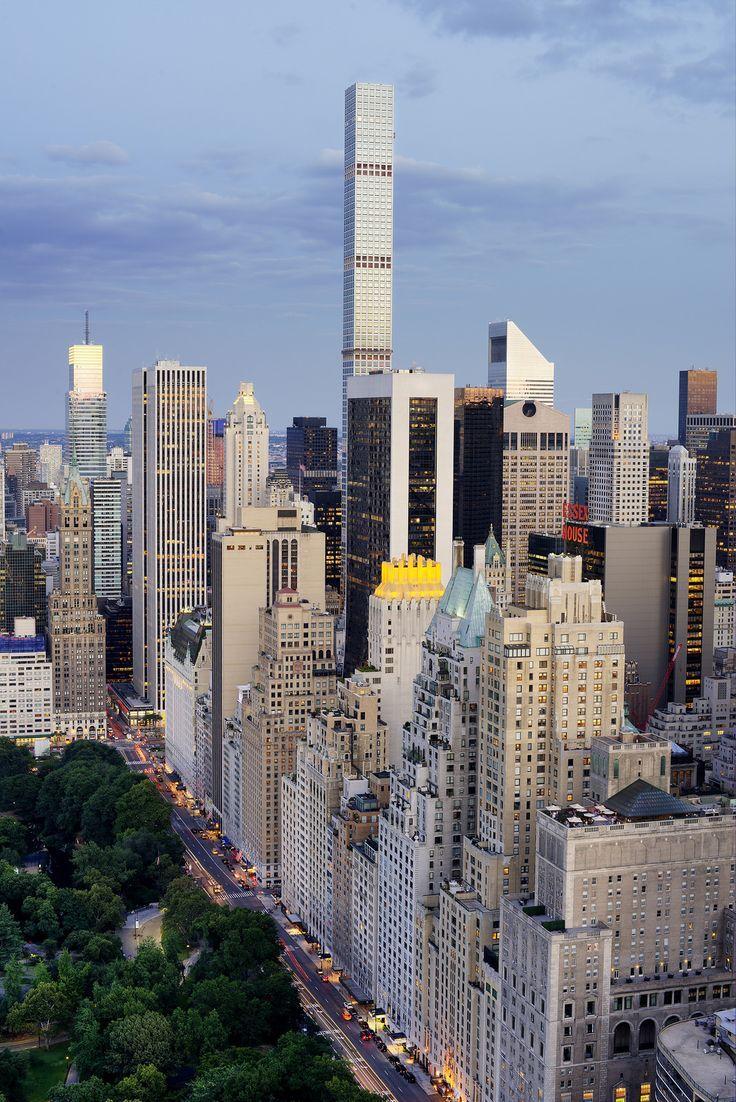 432 Park Ave And Billionaire Row Ny City Nyc Skyline New York City