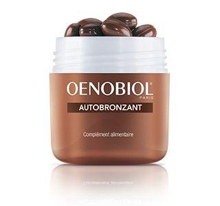 #Autobronzant boite de 30 capsules - OENOBIOL - cet autobronzant vous offre un teint parfaitement doré et harmonieux quel que soit le temps. Son efficience est prouvée cliniquement suite à une estimation par colométrie. Il vous assure un bronzage graduel au rendu naturel sur l'ensemble du corps !