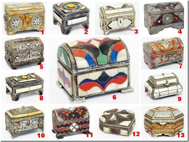 Cutii de bijuterii din metal, placate cu os de camila si rasina.  Care este pe placul vostru? http://ow.ly/o5oZM