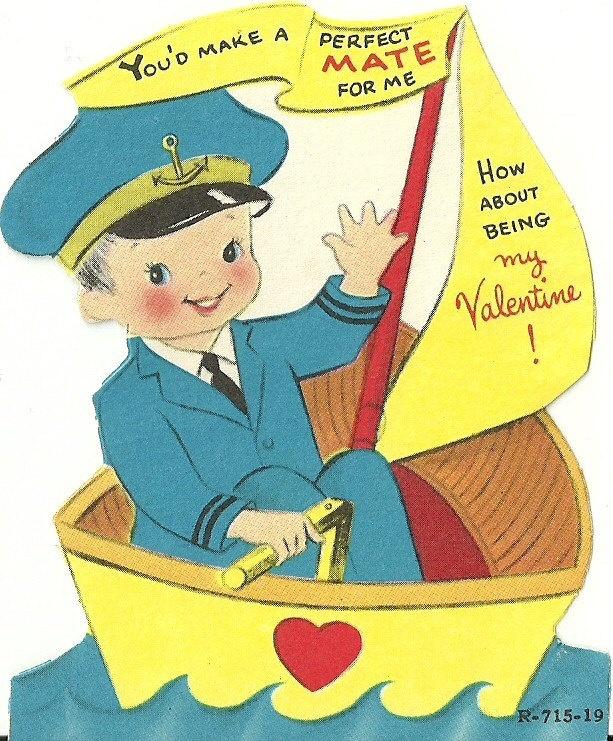 Vintage Valentine's Day Card- 1950's